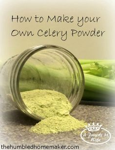 If you love homemade seasonings and spice mixes, add celery powder to the list! This simple tutorial will show you how to make your own DIY celery powder. Homemade Spices, Homemade Seasonings, Do It Yourself Food, Cuisine Diverse, Dehydrated Food, Dehydrator Recipes, Spice Mixes, Spice Blends, Canning Recipes