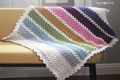 15 V-Stitch Free Crochet Patterns