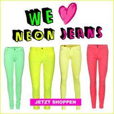 neon jeans!
