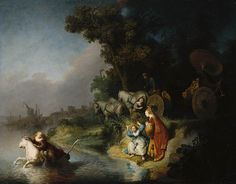 """"""" The Abduction of Europa"""" 1632 Rembrandt"""