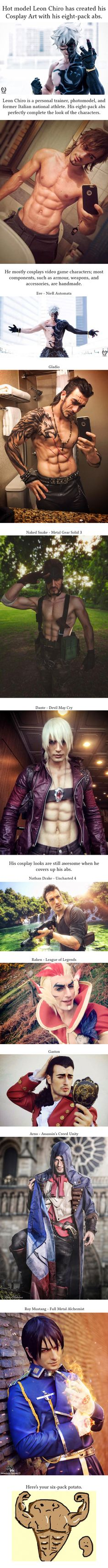 Italian Cosplayer Catches Our Eyes With His Ripped Body