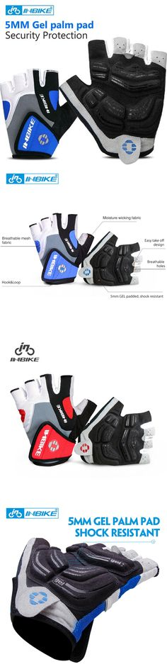 INBIKE Cycling Gloves Half Finger Bicycle Gloves Bike Gel Pad Racing Biking Gloves guantes ciclismo luva guantes bisiklet IF239