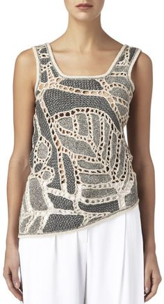 <img> Maiyet Gray Crochet Tank Source by nadyagavrilovic - Mode Crochet, Crochet Tank, Crochet Shoes, Crochet Blouse, Crochet Poncho, Irish Crochet, Crochet Clothes, Crochet Designs, Crochet Patterns