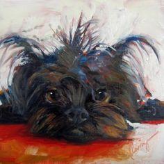 Minky Sue oil on hardboard 8x8 $176, painting by artist Sharman Owings
