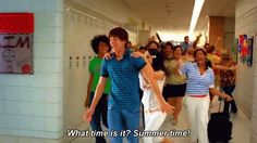 """Here's how to live your summer like Zac Efron and Vanessa Hudgens in """"High School Musical High School Musical Quotes, High School Musical Cast, Disney Channel Movies, Disney Channel Stars, Zac And Vanessa, Disney Original Movies, Disney Jokes, Funny Disney, Emperors New Groove"""
