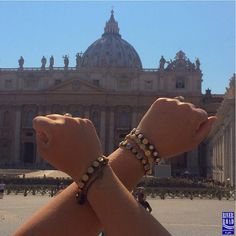 #TBT Blessing Bracelets from RRP&G at the Vatican! What an amazing day we had inside.  Show us where your Blessing Bracelets are going - post & tag us! #vatican #vaticancity #stpaulscathedral #roma #italia #blessingbracelet #shoplocal