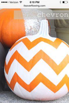 Chevron painted pumpkin