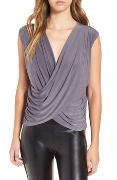 Leith Double Surplice Top available at #Nordstrom