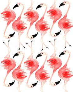 Flamingo Pattern. #pattern #bird #illustration