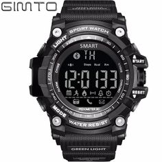 GIMTO Smart Watches Men Digital Watch Sport Watch for Men Military Step Counter Stopwatch Bluetooth Wearable Adapt IOS Android
