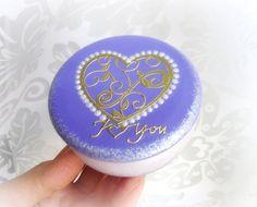 Ring bearer box wedding ring box heart bearer box by GattyGatty