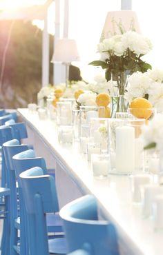 Wedding set up at Il Riccio Restaurant & Beach Club | Capri Palace Hotel & Spa, Anacapri, Italy