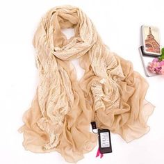 Polyester 212cm Length Pure Color Women's Scarf #scarves