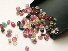 WHOLESALE 10 CTW Multi Tourmaline Faceted Flat by gemsforjewels