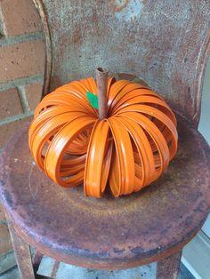 A Mason Jar Lid Pumpkin