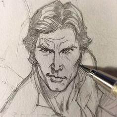 comics + man + sketch ++ Han solo : By Jeffrey Scott Campbell