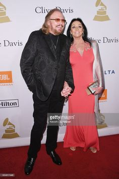 Recording artist Barry Gibb (L) and Linda Gray attends the 2017 Pre-GRAMMY Gala And Salute to Industry Icons Honoring Debra Lee at The Beverly Hilton Hotel on February 11, 2017 in Beverly Hills, California.