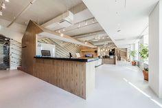 감성+창의성을 불러오는 나무재질+격자무늬의 작은집 삼섬 갤럭시 코티지 실험실 인테리어 사무실 Aworks(...