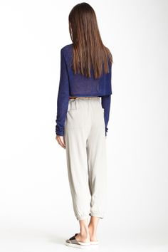 cropped top + trousers