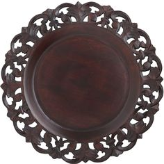 Baroque Carved Charger   Pier 1 - painted white or silver.