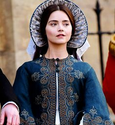 """victoriaseries: """"""""Jenna Coleman on the set of 'Victoria' - February 24, 2017 """" """""""