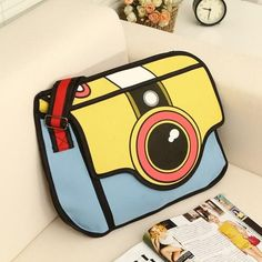 Be bold and standout with this cute and unique 2D inspired bag. Be the first in your office, class or among your friends to have this must have bags. Hand-Picke