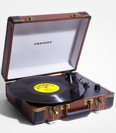 Crosley Executive Portable USB Turntable-Designed to reflect the stylings of yesteryear.  It takes your favorite vintage vinyl records and converts them to digital files #music