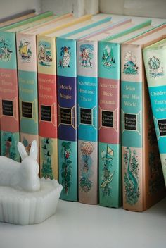 Shabby Chic Children's Books 1958 by hulahoopvintage on Etsy