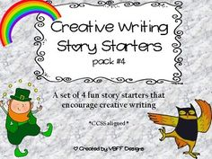 Your students will love to get their creative spirits going with this pack of 4 creative writing story starters. There is a general direction page to get students going. Then, each story starter set contains a planning map (characters, setting, problem, solution), two pages of lined writing paper, an Illustration page, and a Student Self-Assessment page.