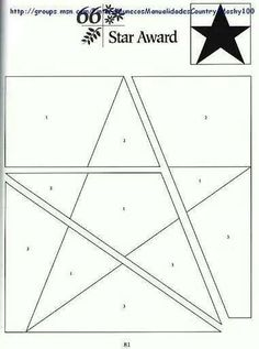 Star quilting pattern
