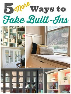 A little over two years ago, I posted 5 Ways to Fake Built In Shelving.  Evidently, there are a lot of people out there who are looking for ways to get the look of custom built-ins without the expense of hiring a carpenter.  And in the two years since I hit the publish button on that post, I've seen even more great examples of how people are using inexpensive shelving units to make gorgeous faux built ins.  So here's the sequel, folks:  5 MORE Ways to Fake Built In Shelving.{...Read M...