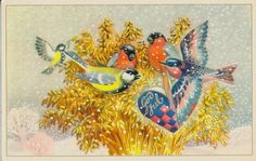 Christmas Cards, Christmas Postcards, Christmas Ornaments, Rooster, Decoupage, Holiday Decor, Norway, Painting, Home Decor