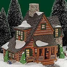 Department 56: Mountain View Cabin - not on my original list but it's a log cabin so I love it!