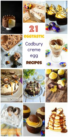 You must see this collection of recipes. Prepare to drool! Chocolate Week, Cadbury Chocolate, Chocolate Heaven, Cadbury Creme Egg Recipes, Cadbury Eggs, Creme Eggs, Egg Desserts, Dessert Recipes, Fudge Sauce
