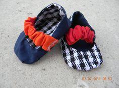 auburn alabama house divided reversible baby shoes