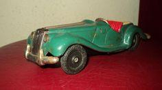 Vintage MG TF Bandai Japan Friction Tinplate Toy Car #Bandai