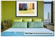Giclee Print Vintage Velvet Chair Barn by RidinOnTheRightSide