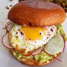 Breakfast is served. #avocado #yolkporn