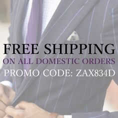 We're offering Free Shipping this week starting 9/17 on all domestic orders!   Promo Code: ZAX834D Budgeting, Menswear, Coding, Free Shipping, Style, Swag, Budget Organization, Men Wear, Men's Clothing