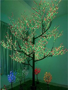 Silhouetboom met LED licht 250 cm. Licht boom van ongeveer 250 cm ...