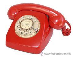 TELEFONO ANTIGUO HERALDO DE TELEFONICA EN ROJO CITESA MALAGA