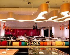Retro restaurant lighting design ideas