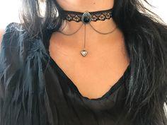 Choker renda preta Adquira em nosso site Www.cariocadasgemasacessorios.iluria.com ------------------------- Acessórios,chokers,colares,gargantilhas,tendência ,inverno,Winter,bijoux,atacado