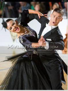 Black Velvet Ballroom Dress - For Sale Selavidance.com