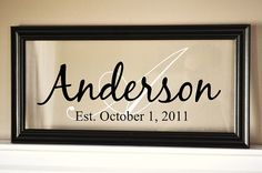 Personalized Family Name Sign Picture Frame by mrcwoodproducts, $39.00