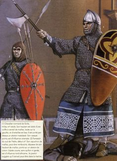 Italo norman Norman Knight, Germanic Tribes, Medieval World, Medieval Weapons, Knight Armor, Norse Vikings, Arm Armor, Anglo Saxon, Dark Ages