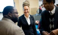 """Rachel Dolezal, Spokane's NAACP president, at a Black Lives Matter event in January.  """"OH, WHAT A TANGLED WEB WE WEAVE.................."""""""