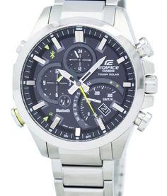 Casio Edifice Tough Solar Dual Dial World Time Bluetooth EQB-500D-1A Men's Watch 1