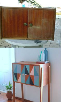 Da color a tus muebles antiguos: 10 ideas para pintar muebles Refurbished Furniture, Paint Furniture, Repurposed Furniture, Unique Furniture, Home Decor Furniture, Furniture Projects, Furniture Making, Furniture Makeover, Diy Furniture Repurpose