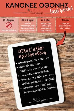 Loveteaching: Κανόνες οθόνης ανά ηλικία Parenting Articles, Parenting Quotes, Kids And Parenting, Parenting Hacks, Social Work Activities, Activities For Kids, Baby Staff, Kids Corner, Exercise For Kids